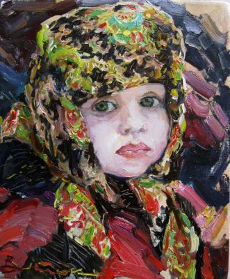 Select Sold Works: Ivan Vityuk - Girl in a Head Scarf