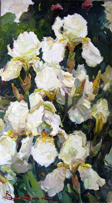 Select Sold Works: Ivan Vityuk - White Irises