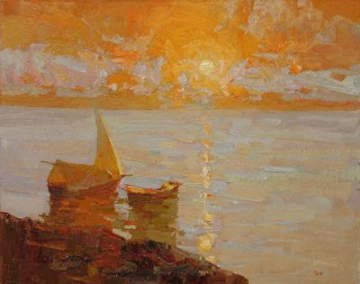 Select Sold Works: Daniil Volkov - Sun Above a Sea