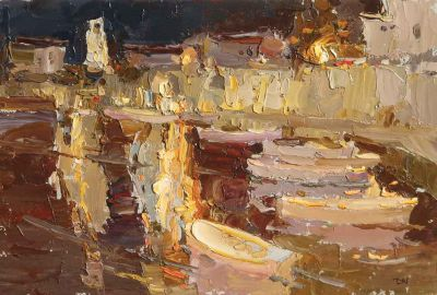 Select Sold Works: Daniil Volkov - Night in the Port