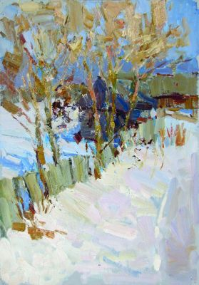 Daniil Volkov - Fence in the Snow