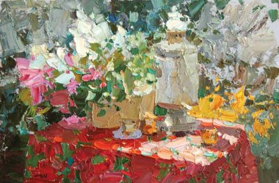 Select Sold Works: Daniil Volkov - Still Life with Samovar