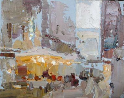 Select Sold Works: Daniil Volkov - Rome Cafe