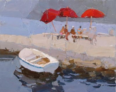 Select Sold Works: Daniil Volkov - Red Umbrellas