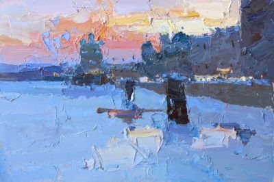Select Sold Works: Daniil Volkov - Winter Evening