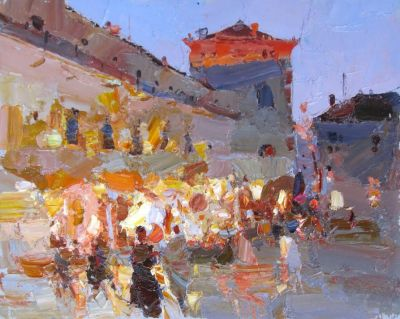 Select Sold Works: Daniil Volkov - An Evening Promenade
