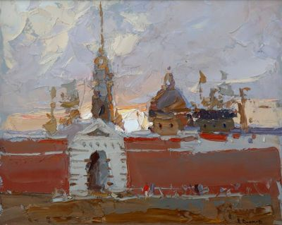 Daniil Volkov - Evening in Peter Paul Fortress