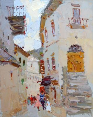 Select Sold Works: Daniil Volkov - Fairytale Town