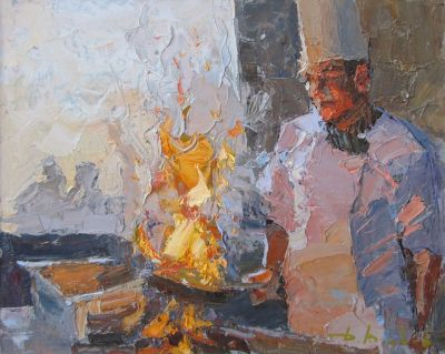 Select Sold Works: Daniil Volkov - On the Fire