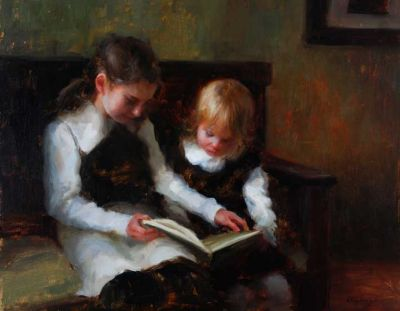 Select Sold Works: Marci Oleszkiewicz - Little Teacher