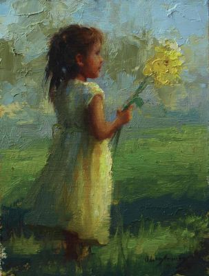 Select Sold Works: Marci Oleszkiewicz - Yellow Flower