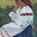 Mikhail Antonchik - Woman in Ukrainian Dress, 1960