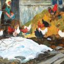 Dmitri Belyaev - Feeding the Chickens, 1977