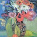 Vladimir Gorb - Flowers in a Brown Vase