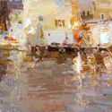 Select Sold Works: Daniil Volkov - Cafe in the Rain