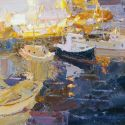 Select Sold Works: Daniil Volkov - Evening in the Port
